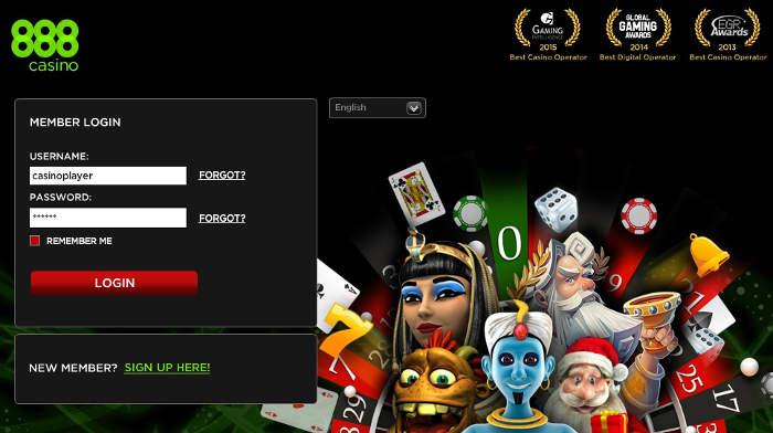 888 casino registo