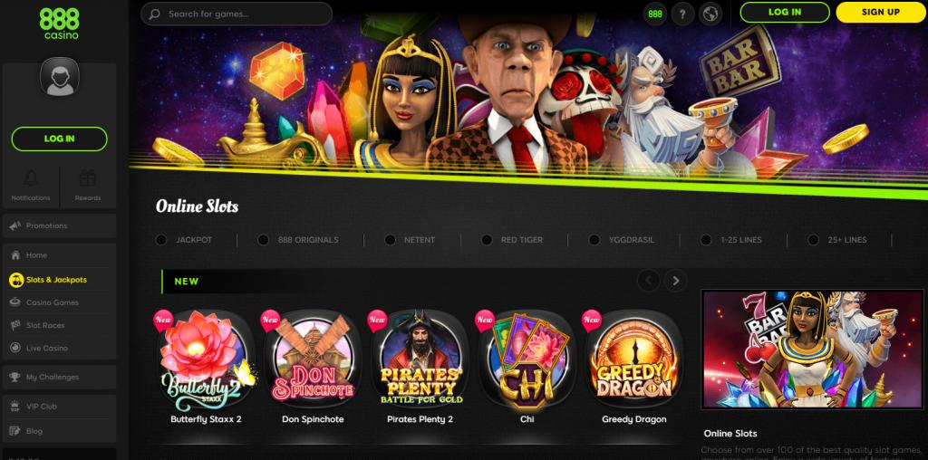 Fazer um registro na 888 Casino?